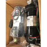 (2) BISON DC GEAR MOTORS, MODEL NUMBER Q11-178-0007, 18 HP 130 V 110 A 387 RPM