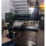 """EMA 3' RADIAL ARM DRILL WITH 24""""×12"""" TABLE, SPEEDS TO APPROX. 1100 RPM,"""