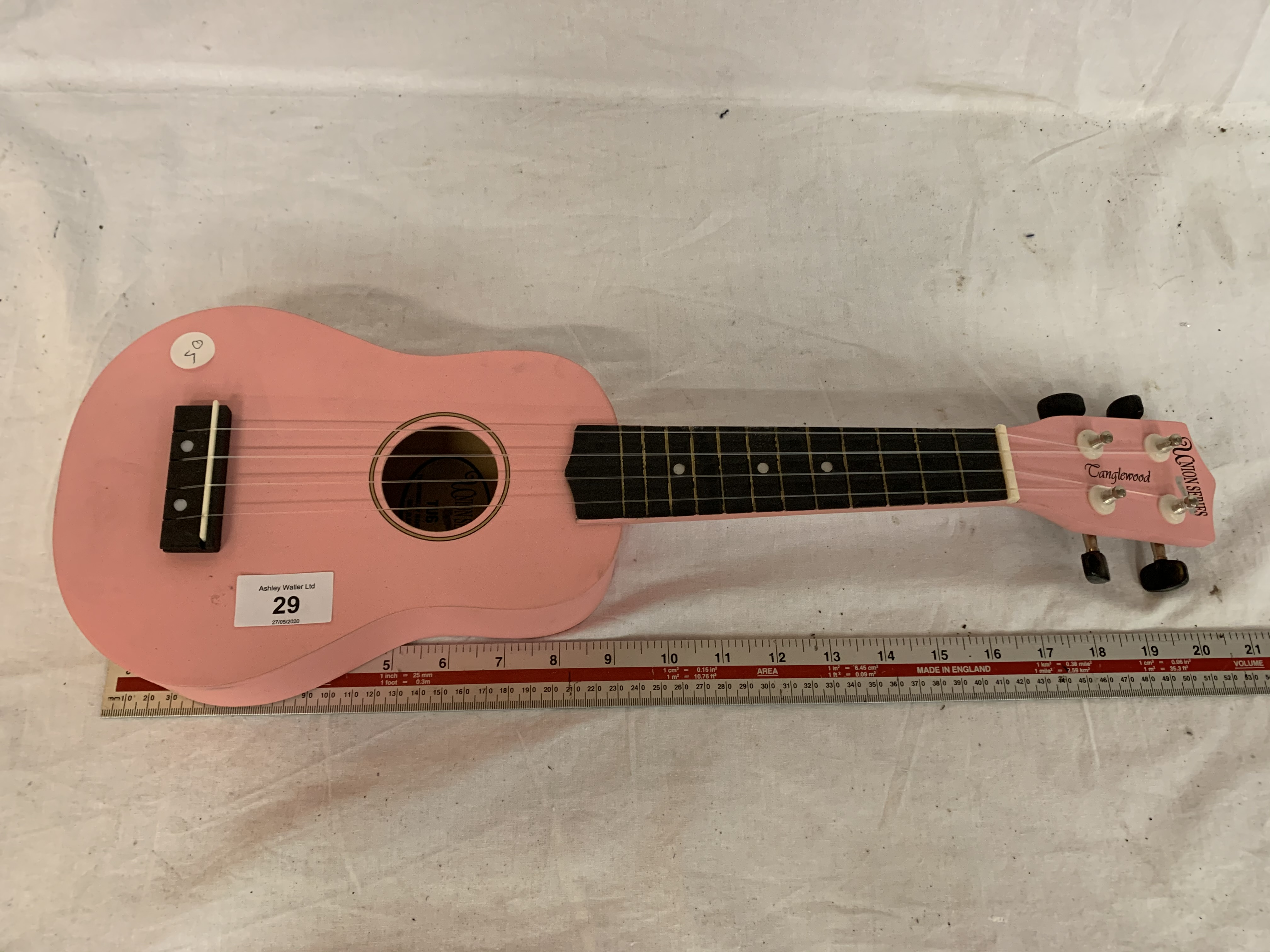A CHILDS PINK UNION SERIES TANGLEWOOD GUITAR