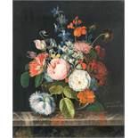 Michel Joseph SpeeckaertStillleben mit BlumenÖl auf Holz. 1816. 43 x 35,5 cm. Signiert und datiert
