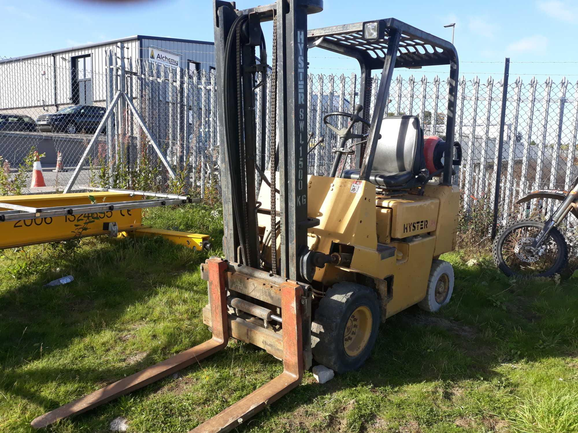 Lot 2038 - HYSTER 1.5 TON FORKLIFT