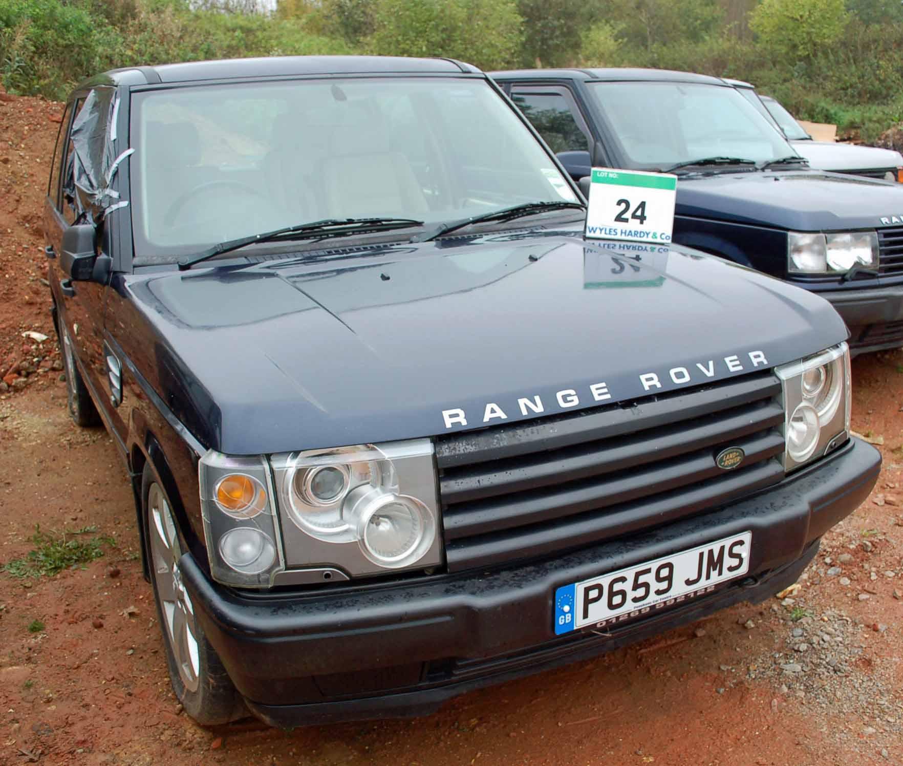Lot 24 - A RANGE ROVER 4.0 SE 4x4 Auto, Registration No. P659 JMS, First Registered: 01/12/1996, Last