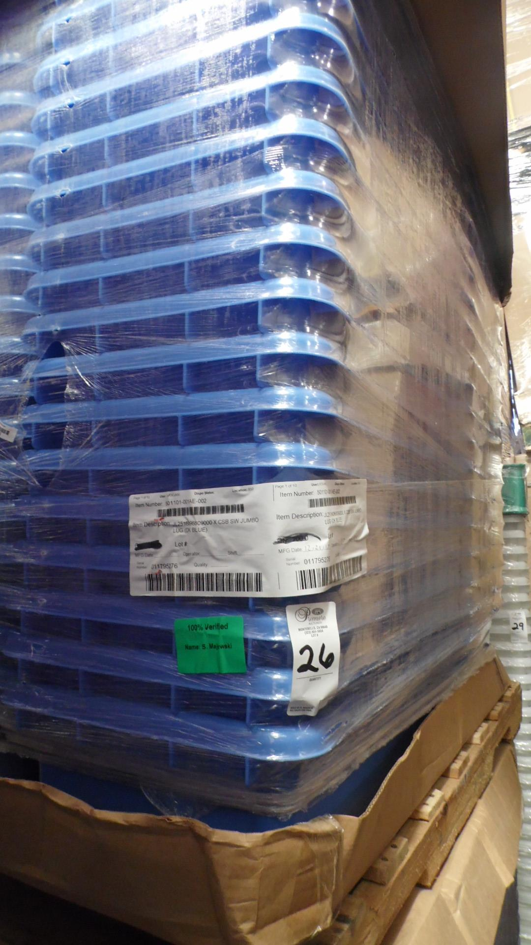 Lot 26 - PALLET OF COLORED TUBS (BLUE)