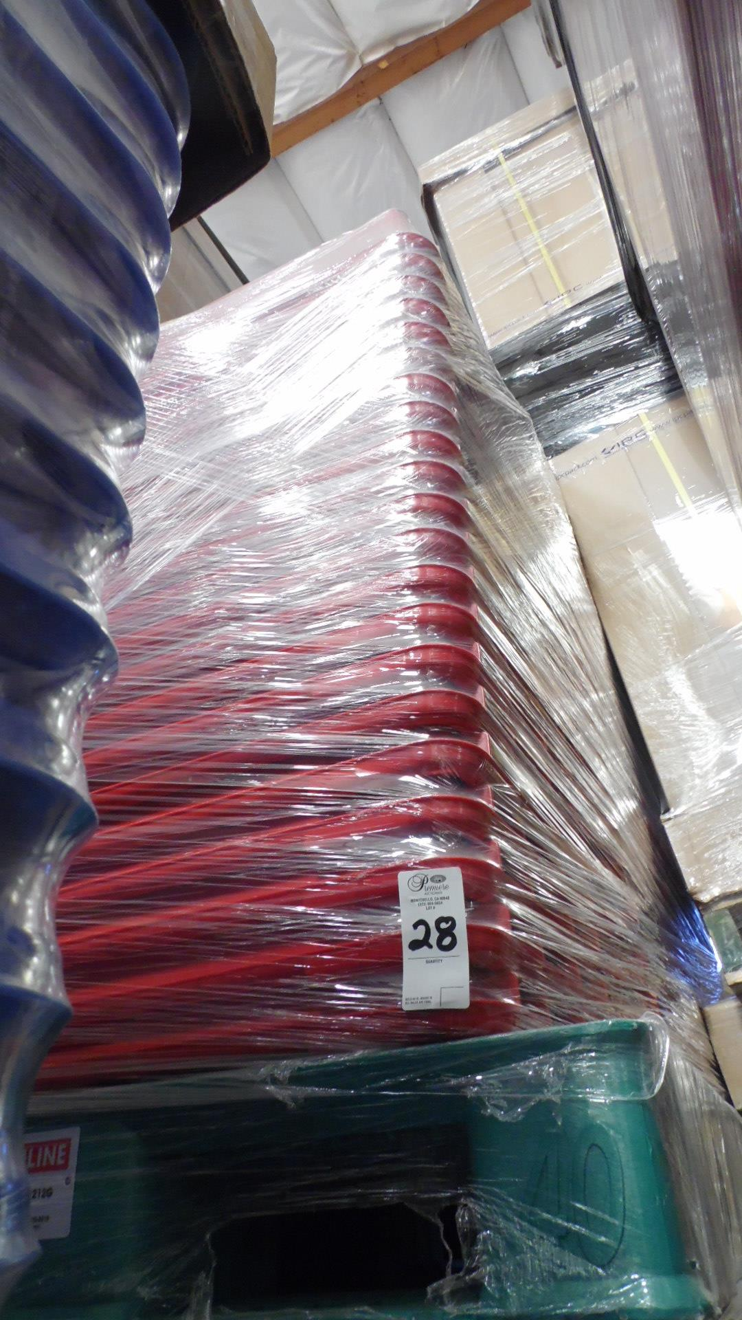 Lot 28 - PALLET OF COLORED TUBS (RED)