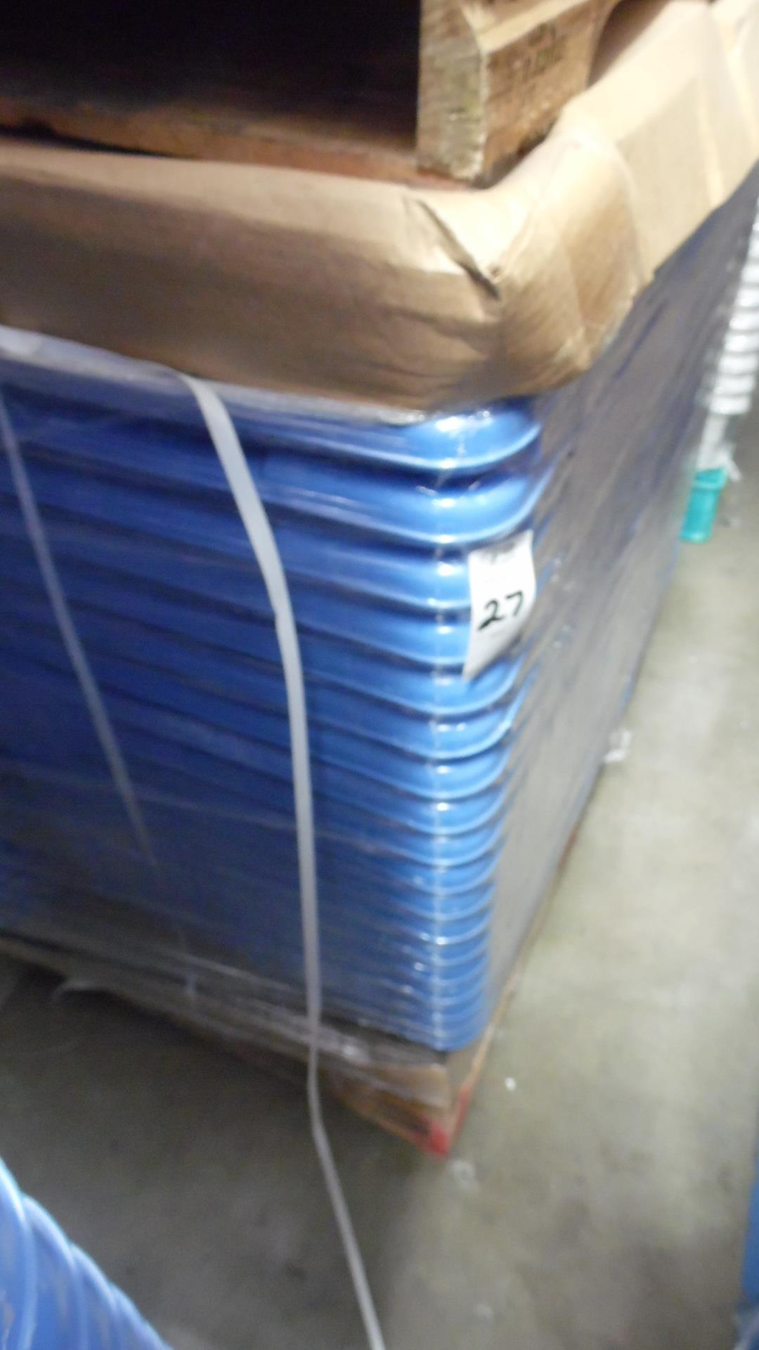 Lot 27 - PALLET OF COLORED TUBS (BLUE)