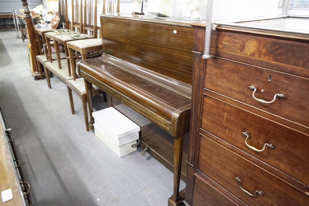 Lot 15 - MOLINEUX, MAHOGANY CASED UPRIGHT PIANOFORTE, iron framed, No. 58845