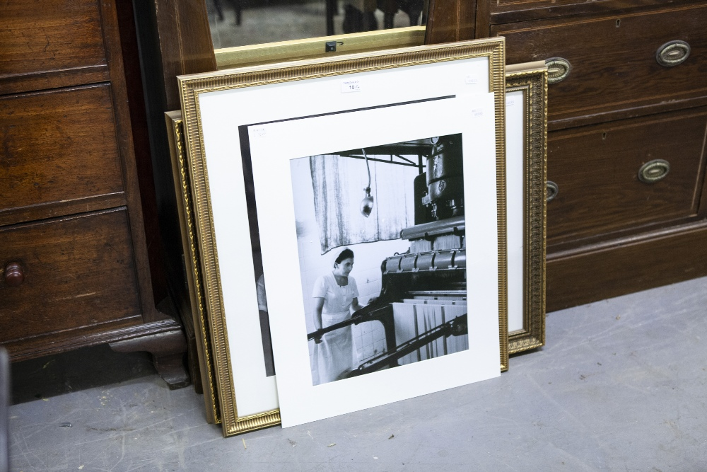 Lot 10 - FOUR VARIOUS BLACK AND WHITE PRINTS (THREE FRAMED) (4)
