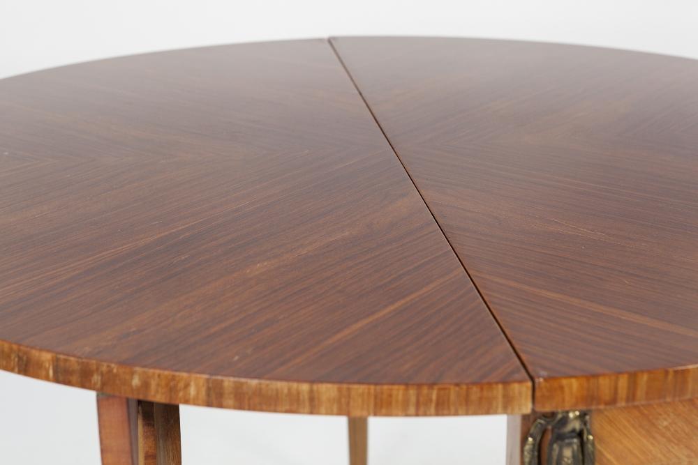 Lot 56 - TWENTIETH CENTURY CONTINENTAL GILT METAL MOUNTED TULIP WOOD AND KINGWOOD TEA TABLE PATTERN PULL-