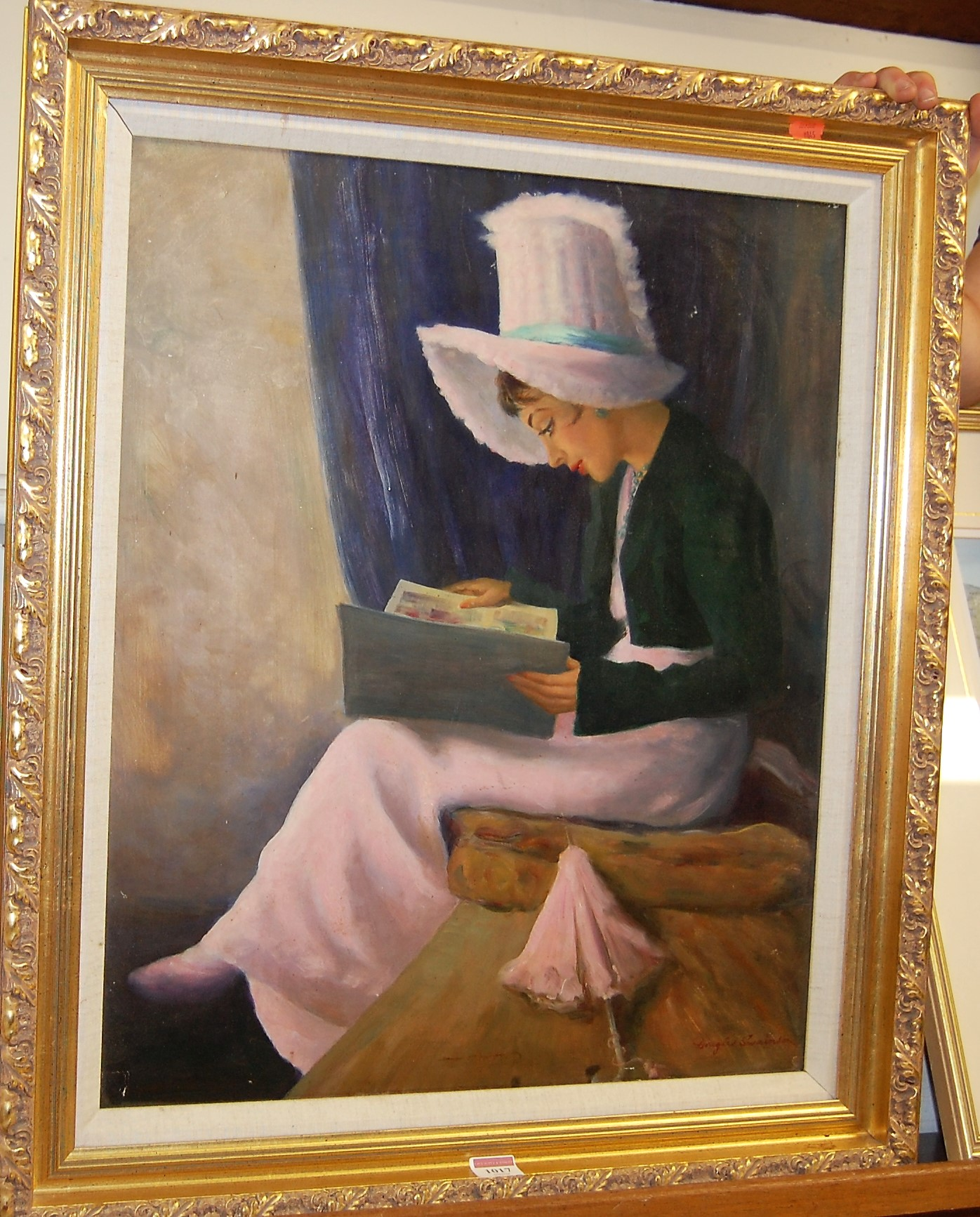 Lot 1017 - Douglas Swainson - The Picture book, oil on board, signed lower right, 59 x 49cm