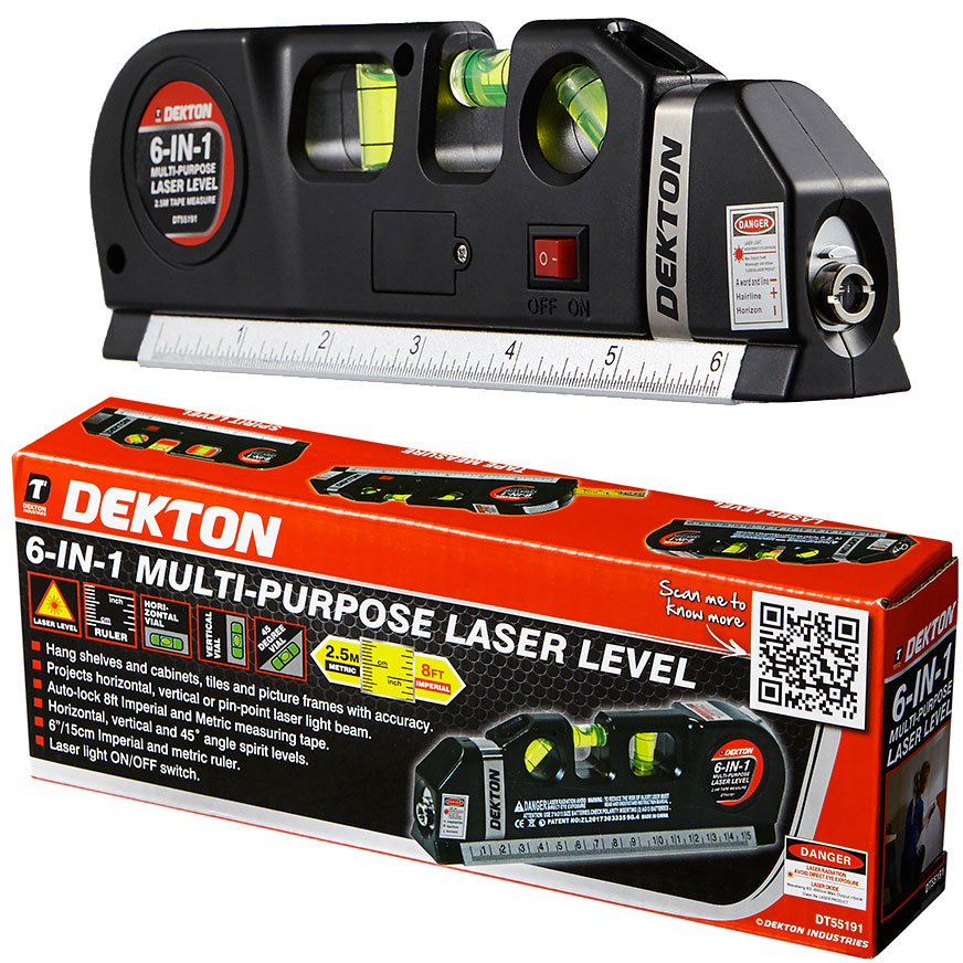 Lot 10099 - V Brand New Dekton 6 in 1 Multipurpose Laser Level