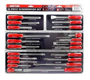 Lot 10102 - V Brand New Dekton 22 Piece Screwdriver Set