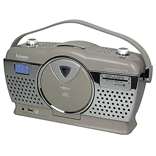Lot 10061 - V Brand New Bluetooth 60's Retro Stirling 3 CD & Radio - With USB Charging (Mocha) ISP £64.95 (