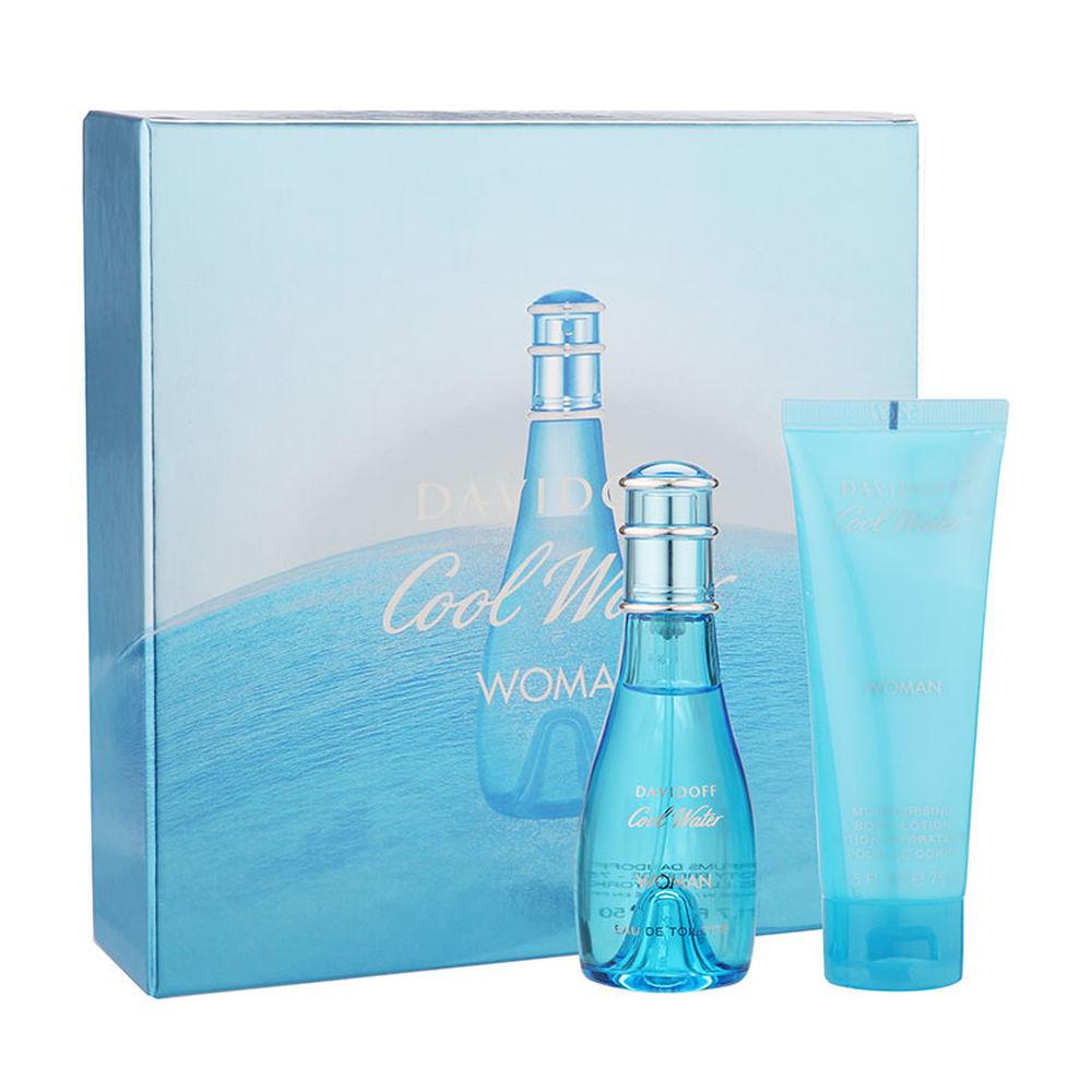 Lot 10107 - V Brand New Ladies Davidoff Cool Water Gift Set - 30ml Eau De Toilette & 75ml Body Lotion
