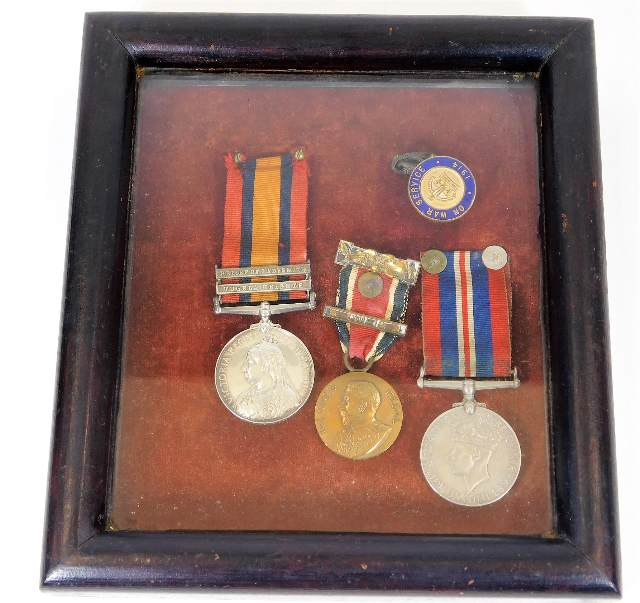 Lot 115 - A Victorian Queen's South Africa medal with Tugela