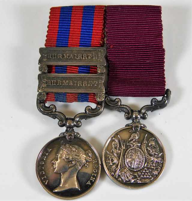 Lot 771 - A miniature Burma war medal set with two clasps 18