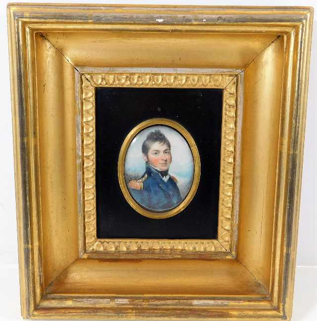 Lot 63 - Mounted in gilt frame, an 18thC. watercolour on iv