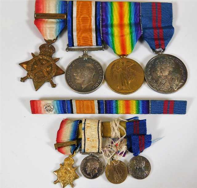 Lot 764 - A WW1 medal set with Delhi Durbar medal awarded to