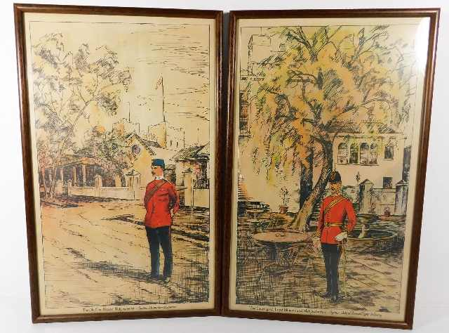 Lot 11 - A pair of framed military prints of British Soldie