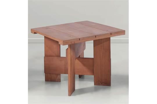 Tavolino Di Rietveld.Gerrit Rietveld Set Di Sedia Sgabello E Tavolino In Legno