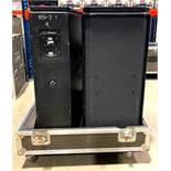 DESCRIPTION 2CT PROFESSIONAL CONCERT SYSTEM PA SPEAKERS WITH ROAD CASE ON CASTERS BRAND/MODEL PAS RS