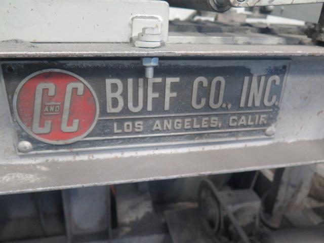 """Lot 116 - C & C Buff Co 4"""" Belt Grainer w/ 12"""" Belt Feed"""
