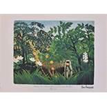 Henri Rousseau (d'après)- Paysage exotique<br