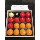 A Set of aramith Belgian Billard Balls (located at ADA Support, 178 Burnley Road, Wier, Bacup,