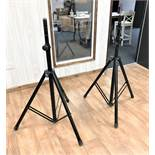 A Pair of K+M Heavy Duty Speaker Stands with Citronic Carry Bag (located at ADA Support, 178 Burnley