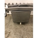 """Portable Stainless Steel Tote for Bridge Dump, Approximately 26"""" x 26"""""""