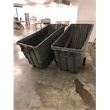 Two Portable Trash Hoppers