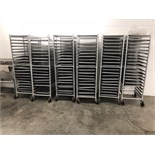 """(2) Channel Approximately 64"""" Tall Tray Racks, Mounted on Casters, 20 Tray Capacity (Trays Not Incl"""