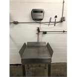 Toledo stainless steel platform scale with digital readout, Model 8140, serial number 429-708
