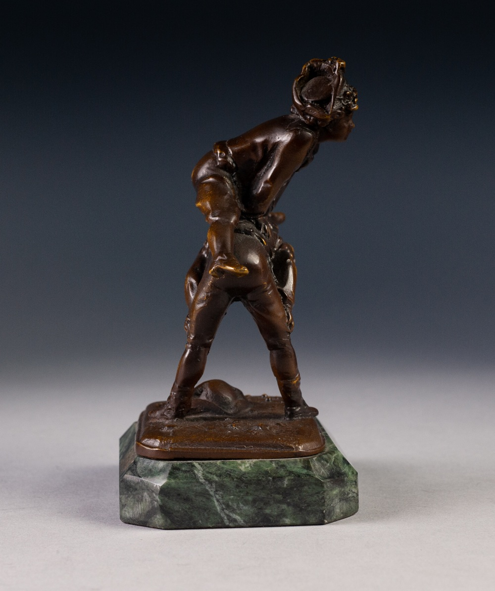 Lot 39 - AFTER ANTOINE LOUIS BARYE CHARMING LATE NINETEENTH CENTURY BRONZE ENTITLED 'SONTE MOUTON' (leap