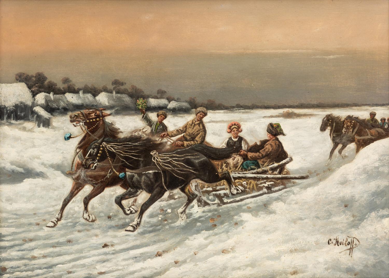 CONSTANTIN STOILOFF (RUSSIAN 1850-1924)