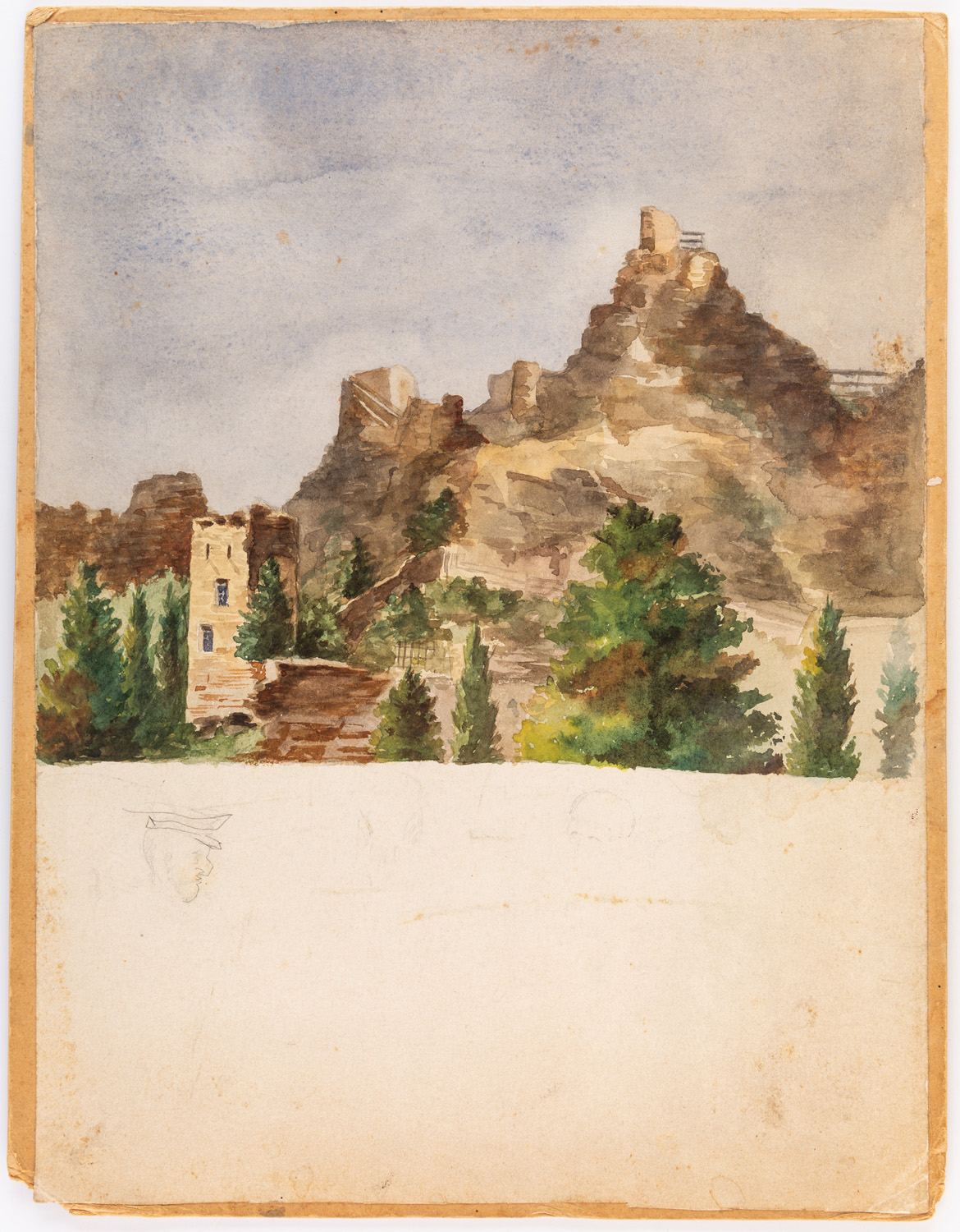 A GROUP OF THREE LANDSCAPE DRAWINGS BY NIKOLAI LANCERAY (RUSSIAN 1879-1942) - Image 3 of 10