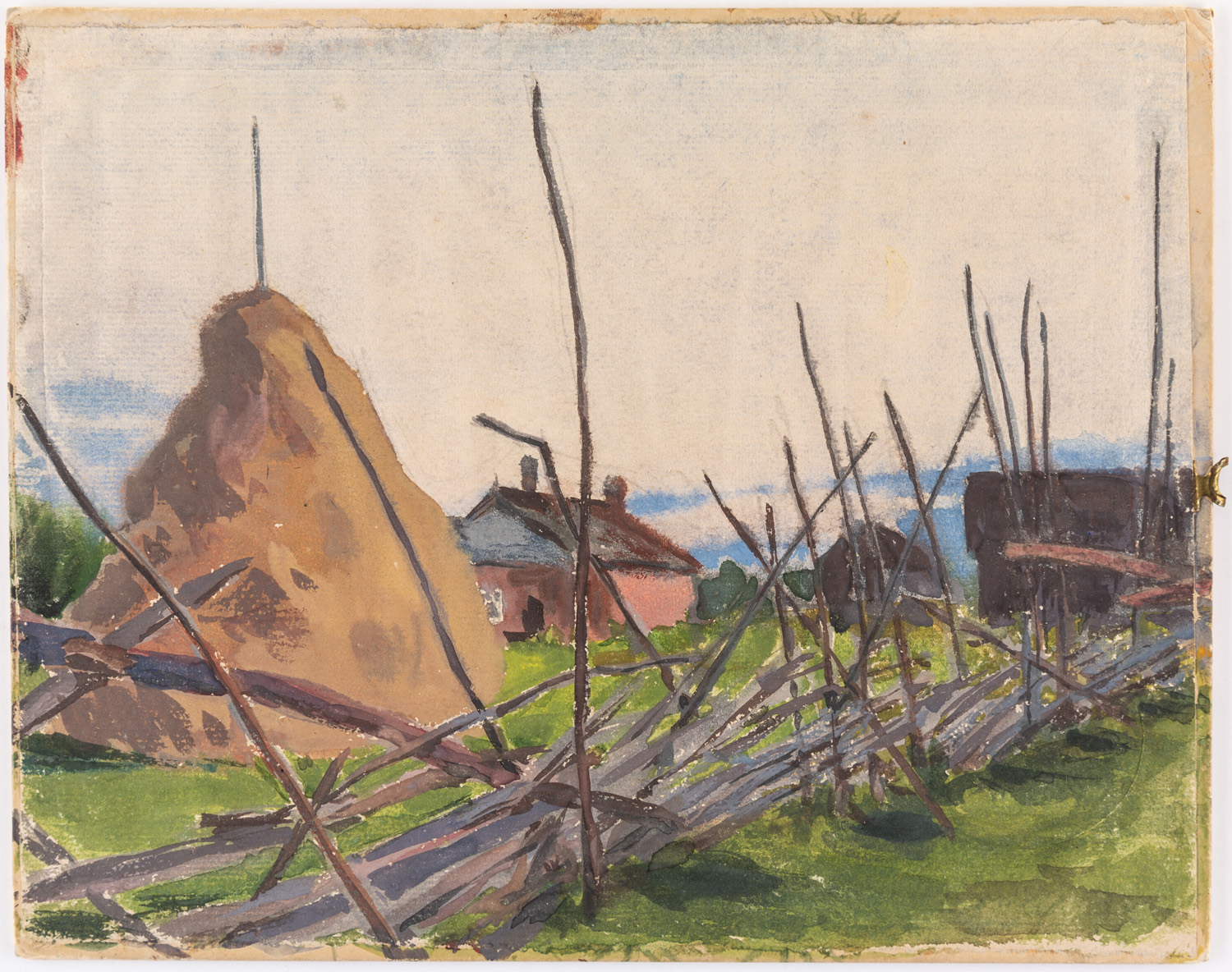 A GROUP OF THREE LANDSCAPE DRAWINGS BY NIKOLAI LANCERAY (RUSSIAN 1879-1942) - Image 2 of 10