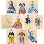 A GROUP OF TEN COSTUME DESIGNS BY MIKHAIL BOBICHOV (RUSSIAN 1885-1964)