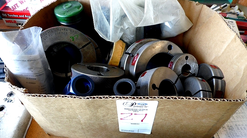 Lot 27 - ASSORTED THREAD & RING GAGES