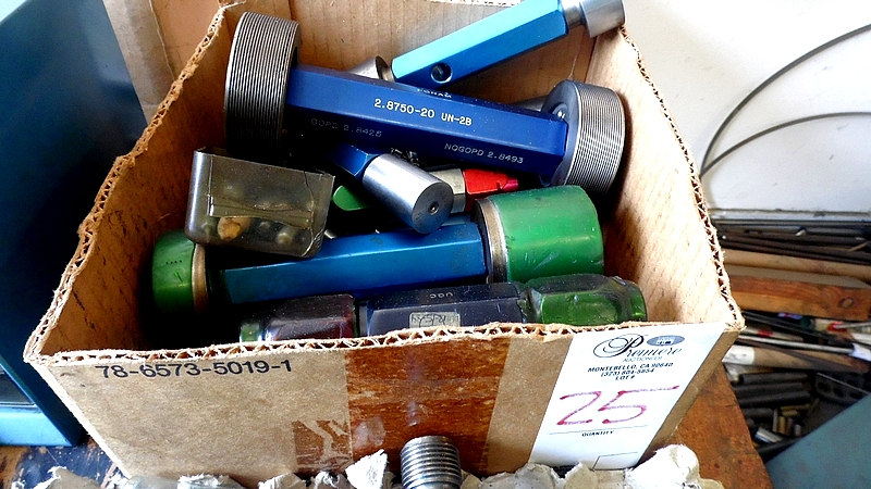 Lot 25 - ASSORTED THREAD GAGES