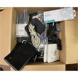 Small Laptop, Cisco Routers, Wifi Keyboard in Box, Computer Drives, Etc