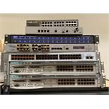 7 Networking Equipment units: HP, D-Link, NVT, Anue, Etc