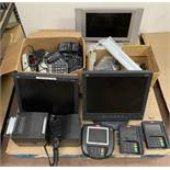 Misc POS Equipment: 3 Monitors, Ingenico Credit Card Readers, Receipt Printers, ID Tech Readers