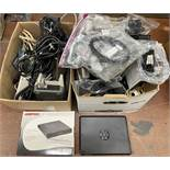 Mixed Lot of Retail Electronics including: Comp USA Floppy drive, Tablet Keyboard Case, Cables Etc.
