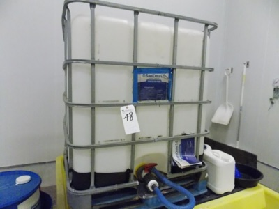 Lot 48 - 250Gal. Containment (Now Empty, Once Contained Sanitizer, Disinfectant)