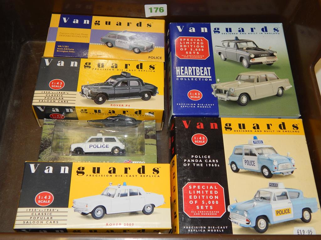 5 BOXED VANGUARDS HB1002 HEARTBEAT SET, PC1002 POLICE CARS OF THE ...