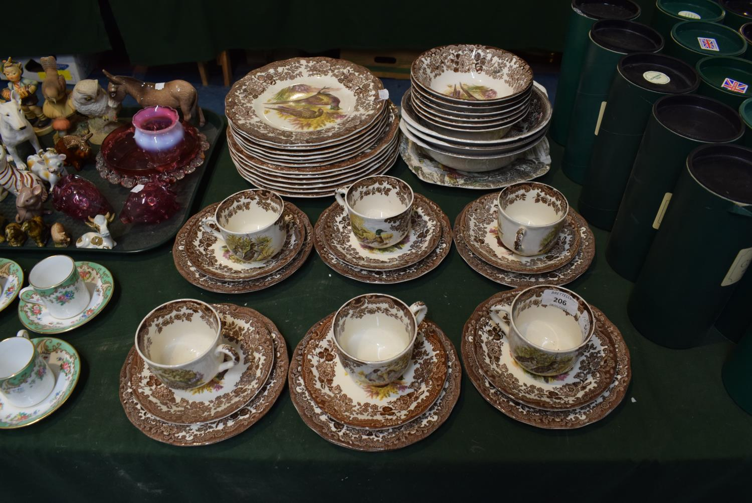 Lot 232 - A Collection of Royal Worcester Palissy Game Series and Other Tea and Dinnerwares to Include Six