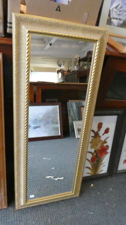 Lot 329 - A Gilt Framed Wall Hanging Mirror, 103cm High