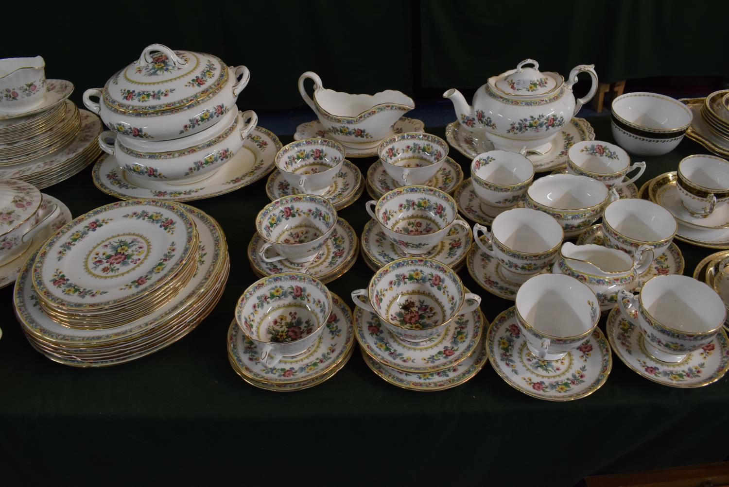 Lot 224 - A Large Collection of Coalport Ming Rose Dinner and Teawares to Include Six Dinner and Side
