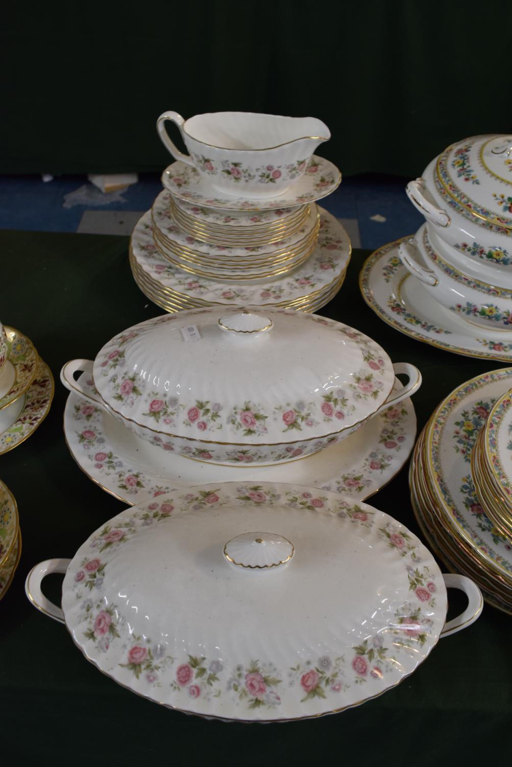 Lot 223 - A Collection of Minton Spring Bouquet Dinnerwares to Include Six Dinner Side and Smaller Plates, Two