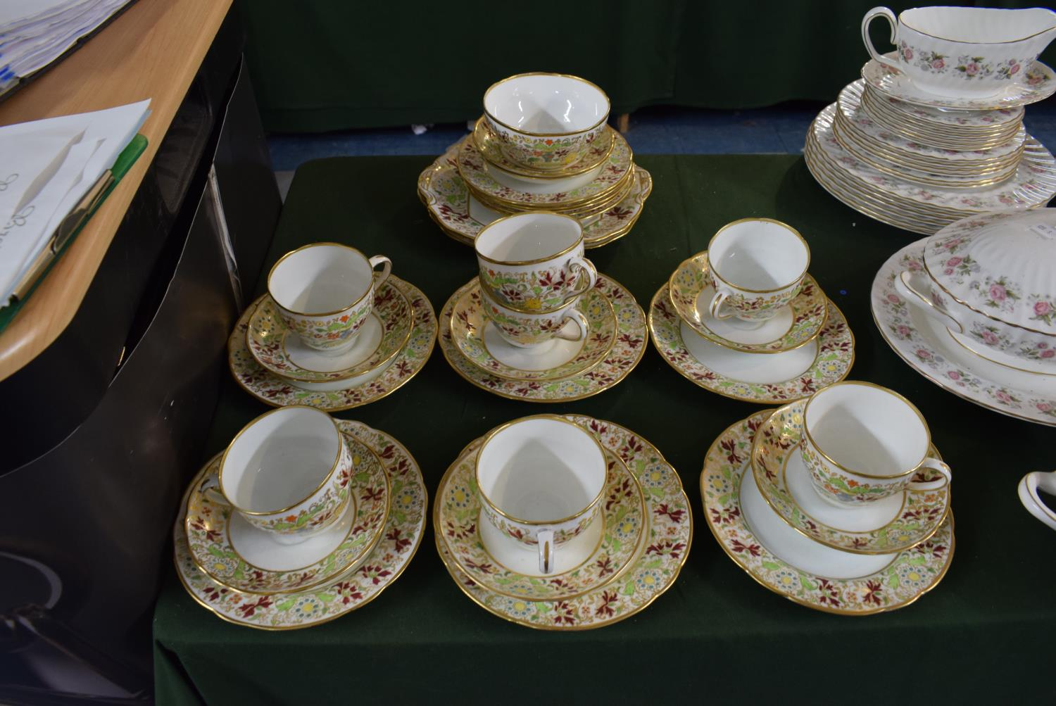 Lot 222 - A Collection of Hammersley Floral Pattern Teawares to Include Seven Trios, Two Cake Plates,